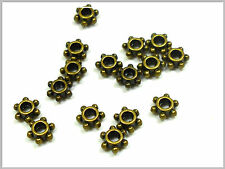 25 kleine Metallperlen bronze Spacer 5*4mm