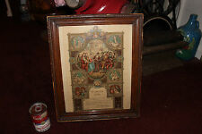 Antique Russian Polish Marriage Certificate Wedding Ceremony-Christianity Scenes