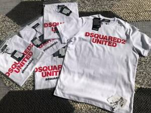 """BNWT DSQUARED2 Logo Crew tshirt in White/Red    reg fitting     Small  / p2p 20"""""""