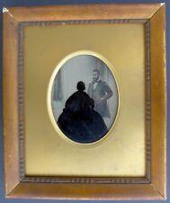 Curiosité - Ambrotype et fixé sous verre - 1860's -