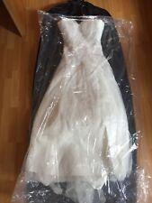 Brautkleid, Hochzeitskleid, Gr. 36/38, elfenbein, Satin, Pailletten