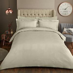Cream Luxury Duvet Cover with Pillowcase Bedding Set - Single