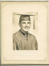 CLASS PHOTO - YOUNG MAN FROM CHICAGO, IL, IN CAP   GOWN BY GIBSON STUDIO