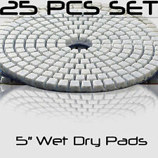 Diamond Polishing Pads 5 Inch Wet Dry Set For Granite Concrete Marble 25 Piece