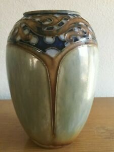ROYAL DOULTON 1920's VASE BY MINNIE WEBB