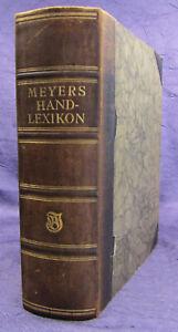 Meyers Handlexikon 1921 8. Auflage Lexika Nachschlagewerk Geografie sf