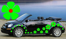 32 green & red pansy fleurs voiture autocollants, stickers, graphiques, daisy stickers