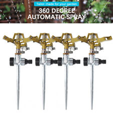 More details for 1/2/3/4x water sprinkler garden lawn impulse metal spike grass hose 360 degree
