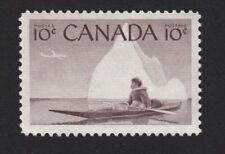 Eskimo Hunter = Inuk, Kayak = Canada 1955 #351 MNH