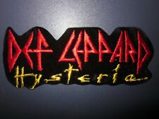 Vintage VTG 80s Embroidered Rock & Roll Band Music Patch - Def Leppard Hysteria