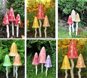 Garden Ornaments Toadstools Fairy Garden Decoration Mushrooms Pixie Magical