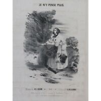 ADAM Adolphe Je n'y pense plus Chant Piano ca1840 partition sheet music score