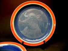 "Denby Stoneware set of 4 Harlequin 10 1/2"" Dinner Plates"