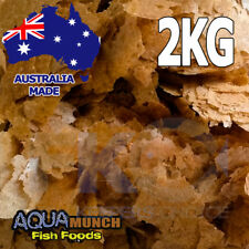Aquamunch Brine (Artemia) Shrimp Fish Food Flakes GRAIN FREE Flake Feed 2KG