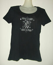 OXBOW DOLINSK NOIR TEE- SHIRT MANCHES COURTES COL ROND 100% COTON BIO TAILLE 2