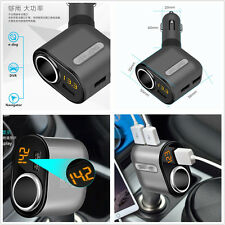 Mini Portable 5V/3.1A Car Vehicle Voltage LED Display 3USB Ports Charger Adapter