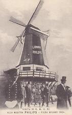 A7753) LAMPADE PHILIPS, VISITA DEL RE ALLA FIERA DI MILANO NEL 1924.