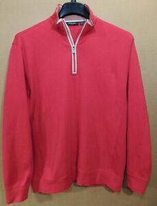 Bobby Jones mens Peruvian Pima Cotton ls 1/4 zip pullover size L