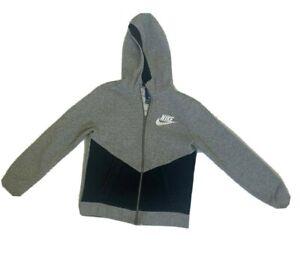 Boys NIKE Zip Up Sweat Top/hoodie Casual Housewear Age 10 - 12 Years Grey Retro