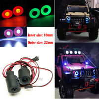 22mm 2Leds Angel & Demon Eyes Lights Headlight for 1/10 RC Crawler SCX10 Jeep