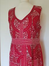 9725bb0a36b4 New listingMaya Deluxe Red 1920s Style Beaded & Sequin Dress, Size 16