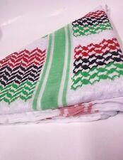 PALESTINE KEFFIYEH SCARF ARAB SHEMAGH COTTON PALESTINIAN FLAG