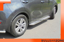 KIA SPORTAGE IV 2015+ MARCHE-PIEDS INOX PLAT / PROTECTIONS LATERALES