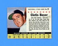 1961 POST CEREAL # 11 CLETE BOYER EX-MT  ( MK )