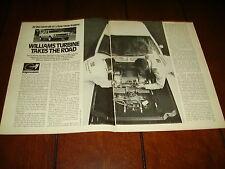 WILLIAMS RESEARCH GAS TURBINE POWERED AMC   ***ORIGINAL 1971 ARTICLE***