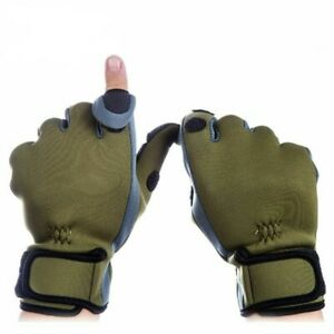 Warm Fishing Gloves Three Finger Cut Breathable Anti-Slip Neoprene Fingerless