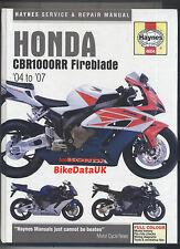 Honda CBR1000RR Fire-Blade (2004-2007) Haynes Work Shop Manual Book CBR 1000 RR