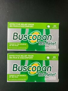 BUSCOPAN IBS RELIEF TABLETS 2 x 20 PACKS = 40 TABLETS TARGETS IBS PAIN & DISCOMF