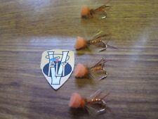 4 V Fly Size 10 Ultimate Hot Orange Hopper Popper Trout Flies