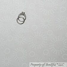 BonEful Fabric Cotton Quilt White Polka Dot VTG Xmas Girl Boy Wedding Ring SCRAP