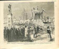 INAUGURATION Monument Mobile PAR Aimé Millet sculpteur Garde nationale 1873