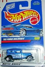Blue 1932 Ford Delivery Wagon ☆ 1999 Hot Wheels #996 Wire Wheels