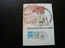 FRANCE - carte 1er jour 8/5/1993 (protection des droits de l homme)(cy38) french