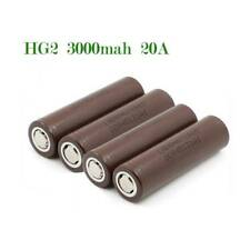 4 Pieces For LG HG2 18650 3000mAh Rechargeable  Battery Flat Top US 3.6V 20A