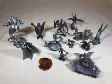 Collection 13 Vintage PEWTER FIGURINES Hudson Perth Partha  Dragons Mermaids D&D