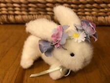 New ListingMuffy VanderBear Flower Festival ~ Rose ~ White Rabbit ~ Bunny ~ Plush Friends