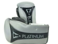 Title Boxing Gloves Platinum BAG & SPARRING gray black 16oz Air Gel Tall SUPPORT