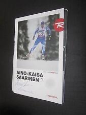 37658 Aino Kaisa Saarinen sci Lang Tapis originale con firma autografo cartolina