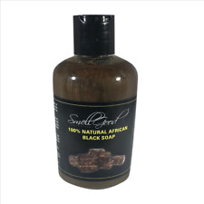 SmellGood-Africa Black soap in liquid shape, natual and handmade - 8oz bottle