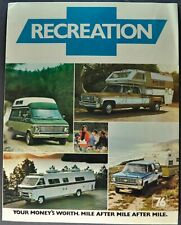 1976 Chevrolet Recreation Truck Brochure Pickup Blazer Suburban Camper Van RV 76