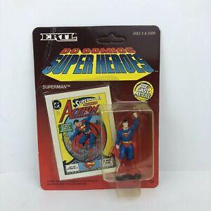Vintage Ertl 1990 DC Comics Super Heroes Diecast Superman Figure Unpunched New