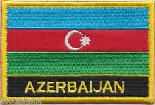 Azerbaijan Flag Embroidered Patch Badge - Sew or Iron on