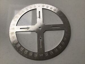 360 DEGREE STAINLESS STEEL PROTRACTOR - LAZER CUT ITEM FOR PIN POINT ACCURACY