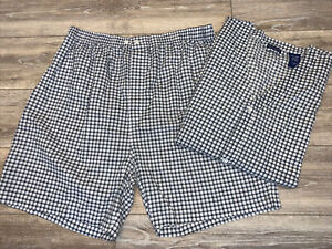 Fruit of the Loom Men's Two-Piece Shorts Sleepwear Gray/White Plaid Size 2XL