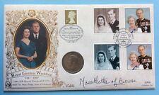 1997 Royal Golden Wedding, Sig. COUNTESS MOUNTBATTEN. 1947 U.K. Coin, 2/6