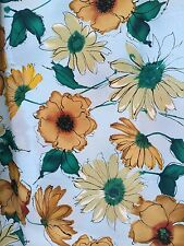 Lovely Large Piece Of Blue & Floral Fabric - 2.4mtrs Large Flower